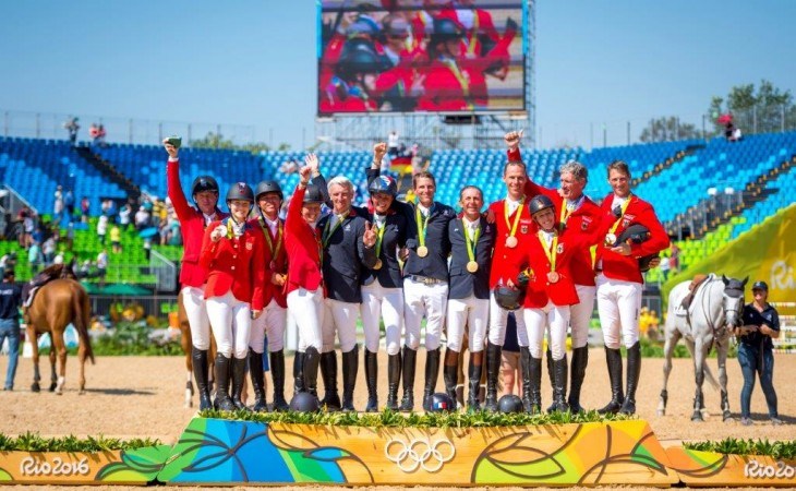 Team Jumping Medalists Gold France Silver USA Bronze Germany